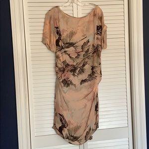 BGBG Silk Dress With Zipper Detail